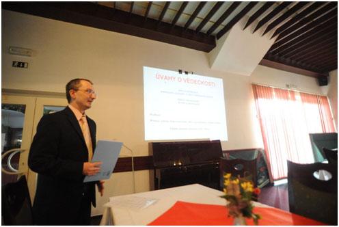 doc. Dr. Ing. Libor Beneš zahajuje devátý ročník konference